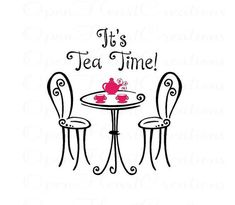 This item is unavailable Its Tea Time Wall Decal – Girls Playroom Wall Saying with Table Chairs and Tea Cups Tea Quotes, Wall Quotes, Tea And Books, Cuppa Tea, Tea Art, My Cup Of Tea, High Tea, Tea Time, Wall Decals