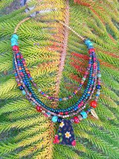 Handmade Beaded Fall Stylish Necklace by ovabuku on Etsy