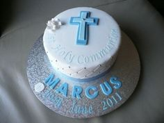 Boys First Holy Communion By RebeccaKate on CakeCentral.com