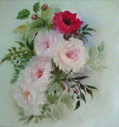 Aleksandra Zając, oil painting, Roses