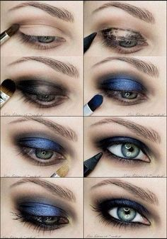 ❤ ❤ ❤ I typically hate blue eyeshadow, but surprisingly enough I like it!!!