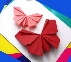 Origami butterfly - Easy to do. Paper butterfly - Wall decoration- Easter decor