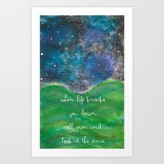 Look At The Stars Art Print by Kayla Gordon   Society6