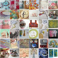 Stitched by hand mosaic by Rebbecca Sower with lots of links to other blogs <3