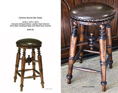 30 inch swivel bar stool with leather seat Mediaterranean style