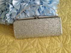 Vintage silver glitter purse/clutch by VintageRevivalDesign on Etsy https://www.etsy.com/listing/192778277/vintage-silver-glitter-purseclutch