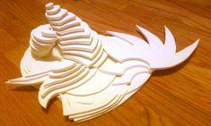 Foam core sculpture by thewooweewoo.deviantart.com on @deviantART