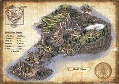 Map of Skull Island, Hans Ekaputra on ArtStation at http://www.artstation.com/artwork/map-of-skull-island