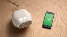 Piggy bank for the kids room. ERNIT is a stylish piggy bank that is connected to an app – it uses light to show your children how close they are to reaching their goals.