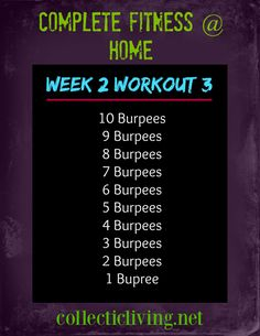 Easy at home workout!