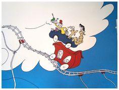 dr seuss clip art | Dr Seuss Mural Green Eggs And Ham smaller