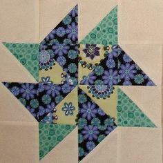 Pinwheel Sampler Quilt Block by Happy 2 Sew