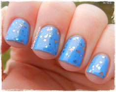 Girly Bits - Indian Summer {over Barry M Blueberry} (swatched by A Girl and Her Polish)