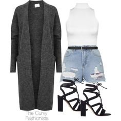 Untitled #196 by thecurvyfashionista on Polyvore featuring polyvore moda style Acne Studios WearAll Topshop Gianvito Rossi Yves Saint Laurent