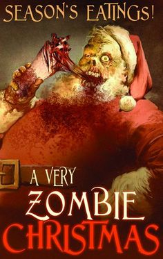 "Cover for ""A Very Zombie Christmas"" from Antarctic Press. On sale now [link] by: Lee Duhig A very Zombie Xmas. Zombie Christmas, Dark Christmas, Father Christmas, Merry Christmas, Christmas Stuff, Christmas Crafts, Christmas Comics, Christmas Time, Zombies"