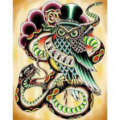 Legend by Tyler Bredeweg Tattoo Art Canvas Fine Art Print - Purple Leopard Boutique