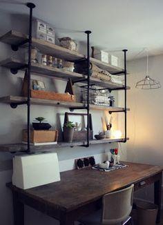 Mieszkać Pięknie: Loftowy regał na książki