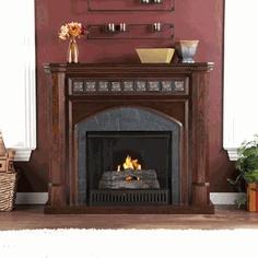 Holly U0026 Martin Belton Gel Fireplace   Espresso Finish