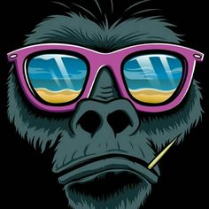Illustrations by design monkey , via behance pop art wallpaper, hipster wallpaper, iphone wallpaper Graffiti, Animal Art, Illustrations Posters, Illustration, Graphic Design, Art, Monkey Art, Street Art, Pop Art