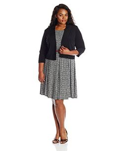 Jessica Howard Women's Plus-Size Printed Jacket Dress, Black/Ivory, 14W Jessica Howard http://smile.amazon.com/dp/B00R32DVMW/ref=cm_sw_r_pi_dp_IYkhvb15MS6R3