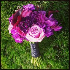 Purple bouquet by @bellefleure #flowers