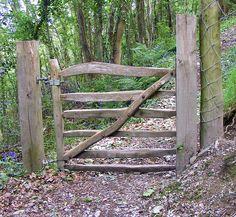 Rustic Wood Gates   Rustic gate at Pont y Glyn.