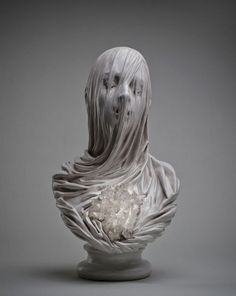 Veiled Souls Carved from Stone and Embedded with Crystals by Livio Scarpella  http://www.thisiscolossal.com/2014/04/veiled-souls-carved-from-stone-by-livio-scarpella/