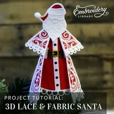 Machine Embroidery Designs at Embroidery Library! Christmas Sewing, Christmas Embroidery, Lace Embroidery, Embroidery Ideas, Machine Embroidery Projects, Christmas Tree Ornaments, Christmas Decor, Christmas Ideas, Lace Design