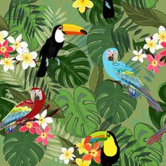 cost-free adorable tropical birds forests special : Really like people colourful birds chirping at the garden? Perfectly, for those who have a house in places you get wild birds come over using pals / b. Tropical Forest, Tropical Birds, Tropical Art, Colorful Birds, Tropical Prints, Jungle Decorations, Forest Illustration, Bird Artwork, Wild Birds