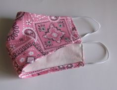 Bandana, Face Contouring, Fashion Mask, 2 Ply, Dusty Pink, Hand Sewing, Cotton Fabric, Unique Jewelry, Handmade Gifts