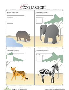 Zoo passport. .. education.com
