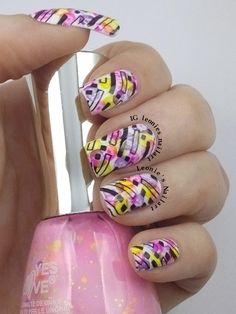 Watercolored Stamping - Leonie's Nailart Check on my IG leonies_nailart for a video-tutorial