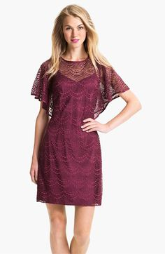 Adrianna Papell Batwing Lace Overlay Dress | Nordstrom i know it's not the right color, but it's really pretty. nordstrom has some pretty bridesmaid-y looking dresses.