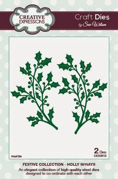 PartiCraft (Participate In Craft): Holly Spray and Holly Accessory Kit