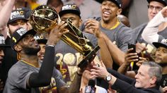 What did the #Cavs wear while celebrating their championship win in the locker room?