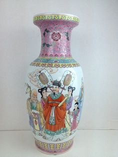 Vintage Asian Vase Emperor Geisha Girls Chinese Marked Porcelain | eBay
