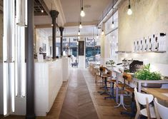 Cafe Couturne en Paris diseñado por Cut Arquitectures