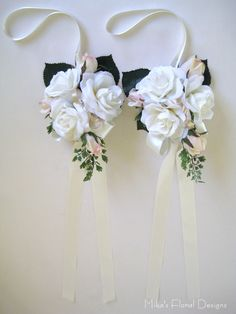 Wedding Pew Decorations about Calla Lily Church Pew Bow