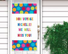 Cabana Dot Plastic Door #Decorations- Personalize It
