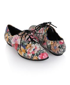 floral oxford shoes <3