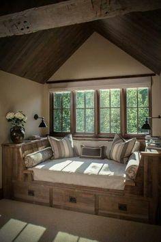 Window seat 25 cozy interior design and decor ideas for reading nooks cozy nook, cozy Cozy Nook, Cozy Corner, Corner Bench, Cozy Den, Home And Deco, My New Room, Home Fashion, My Dream Home, Dream House Plans