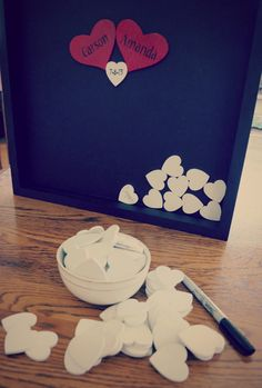 Unique Wedding Guestbook and Heart Guestbook Drop by ACFcustoms, $120.00