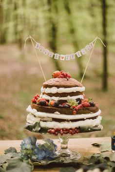 Boho cake topper