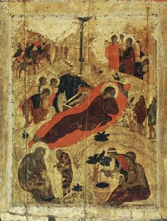 Andrei Rublev - Nativity of Jesus, 1405 (Annunciation Cathedral, Moscow)