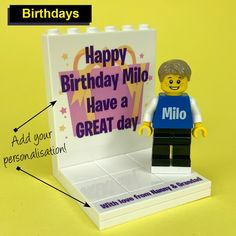FabBricks - Personalised LEGO State Art, Lego, Birthdays, Happy Birthday, Mini, Artwork, Prints, Gift Ideas, Anniversaries