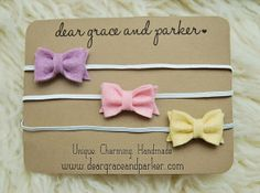 Grace and Parker Bitty Bow Headband - newborn in Cotton Candy