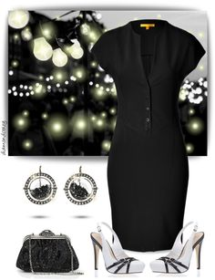 """Moritz Glik Black Diamond & Sapphire Earrings"" by diamondcrazy on Polyvore"
