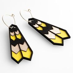 Plumage Earrings by Molly M -- now at Poketo