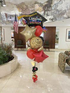 Graduation Bouquet, Graduation Balloons, Balloon Bouquet, Balloon Arch, Retirement Parties, Grad Parties, Congratulations Balloons, White Balloons, Balloon Decorations