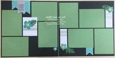12x12 scrapbook pages made with Botanical Blooms stamp set, Botanical Builder framelits, Glitter Tape and that fun Corrugated Paper… #stampyourartout #stampinup -  Stampin' Up!® - Stamp Your Art Out! www.stampyourartout.com